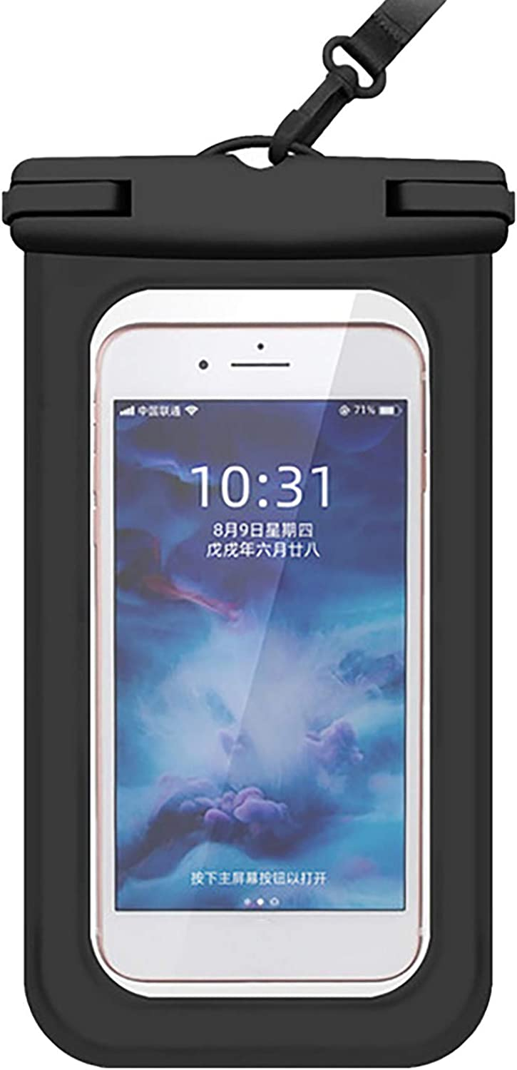 ZHANSANFM Floating Waterproof Phone Case Waterproof Pouch Cell Phone Dry Bag for Phone Black