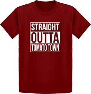 Indica Plateau Youth Straight Outta Tomato Town Kids T-Shirt