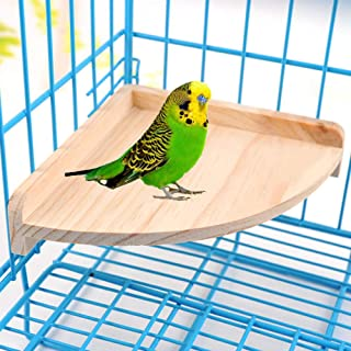 YIHANGBEST Wood Bird Perch Stand Platform Toy for Pet Parrots Parakeet Conure Cockatiel Budgie Gerbil Rat Mouse Chinchilla Hamster Cage Accessories Stands Exercise Toys