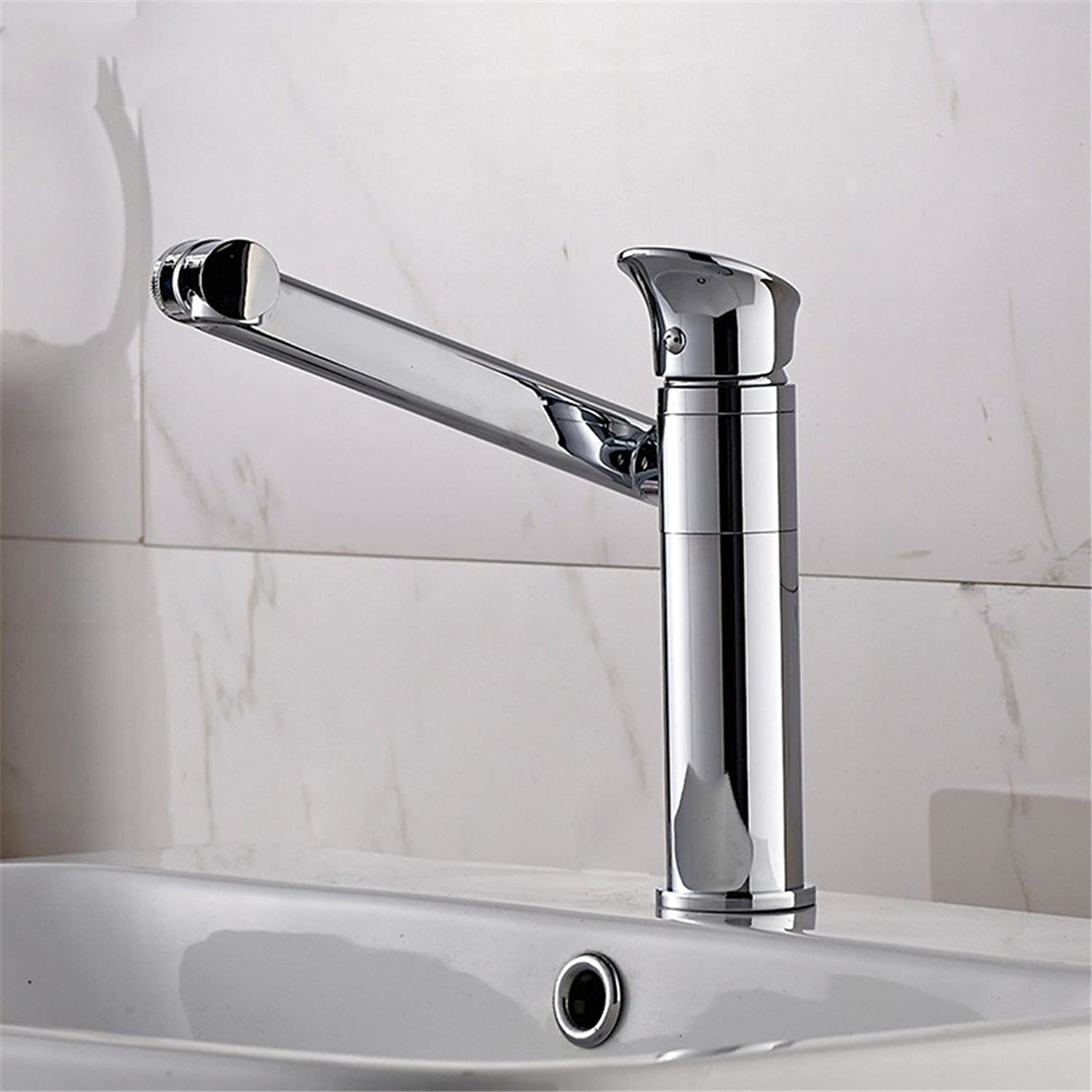 Hlluya Professional Sink Mixer Tap Kitchen Faucet Single Handle single hole cold-hot water tap basin sink on full copper bathroom wash basin mixer, basin of hot and cold Faucet