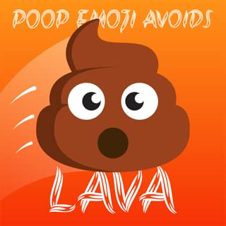 Poop Emoji Avoids LAVA! Jump Up From Hot Floor: Tube Poo Meme Challenge Free Arcade Game