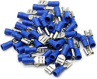 rastzunge Fundas de conector plano 50 6,3 unisoliert hasta 2,5 mm² con rastnase