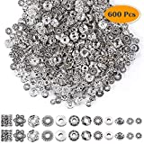 Paxcoo 600pcs 12 Style Silver Spacer Beads Jewelry Bead Charm Spacers for Jewelry Making Bracelets Necklace bracelet boys Oct, 2020