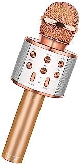 Wireless Bluetooth Karaoke Microphone,3 in 1 Portable Handheld Karaoke Mic Speaker Machine,Karaoke machine for kids,Home P...