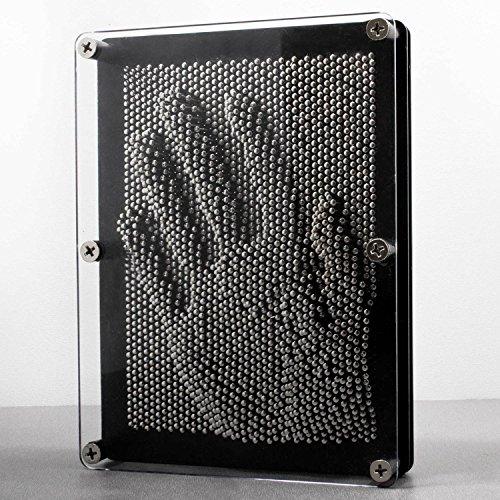 GOODS+GADGETS 3D Nagelbild Pinart Bild Pinpressions Skulptur Retro Spielzeug mit Metallnägeln 20 x 15 cm