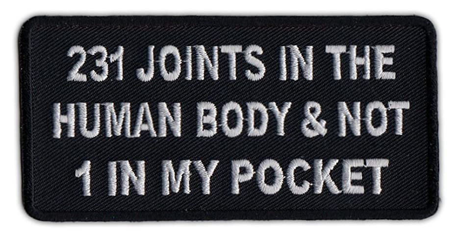Motorcycle Biker Jacket or Vest Patch - 231 Joints In The Human Body and Not 1 In My Pocket - Funny