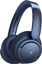 Soundcore by Anker Life Q35 - Auriculares con cancelación de ruido activa, auriculares Bluetooth con LDAC para audio inalámbrico de alta resolución, tiempo de reproducción 40H, ajuste cómodo, llamadas claras (azul obsidiana)
