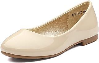 DREAM PAIRS Zapatos de Vestir de Las niñas se Deslizan en Pisos de Bailarina (niños pequeños/pequeños/Grandes)