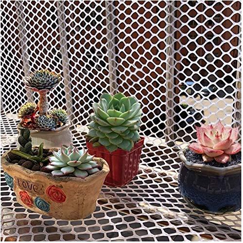 KANULAN Amarres de balcón Malla de plástico Valla de jardín Red de Seguridad de Cubierta 1.2 cm proyectos de jardín Conejos Zorros Vallas de animalesCerca de Jardín