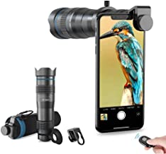 Apexel High Power 28x HD Phone Telephoto Lens with Remote Shutter Works with iPhone X/XR Samsung Pixel Android Any Smartph...