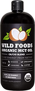 Organic MCT Oil C8/C10 Blend from 100% Coconuts | USDA, Non-GMO, Triple Filtered & Batch Tested for Purity, Great for Coff...