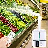 TOPQSC 5L humidificador ultrasónico silencioso con Control Remoto humidificador de Gran Capacidad Inteligente ultrasónico humidificador para hogar Comercial Mantenimiento de Verduras Frescas