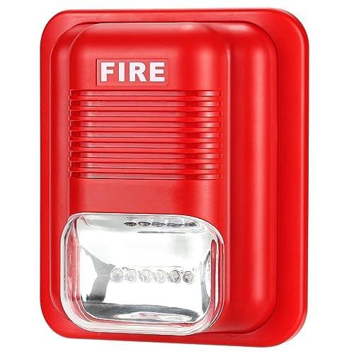 Lifesongs Alarme sonore et lumineuse Alarme incendie Lutte contre les incendies Alarme Acousto-optique Sirène Alarme Système de sécurité Capteur