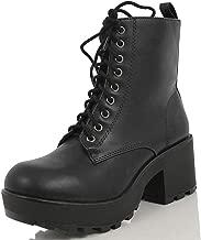Best black lace up platform boots Reviews