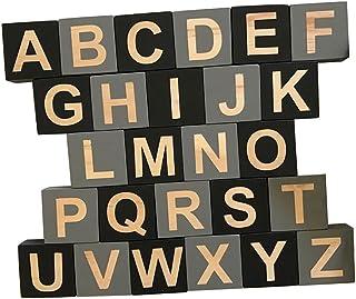 HOMYL Kids Education 26 English Alphabet Letters Blocks Cubes Educational Craft Early Kids Education #e