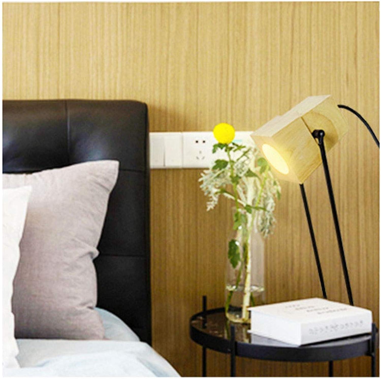 MJK Schreibtischlampe, fürsorgliche Schreibtischlampe, Schlafzimmer im Studentenwohnheim, Kreative Schlafzimmer-Tischlampe aus massivem Holz, Leselampe mit warmem Licht, Tischlampen