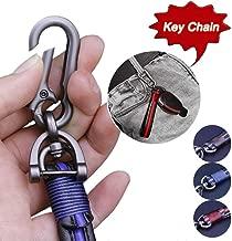 Super repairman Premium Leather Valet Keychain, Handmade Genuine Leather Car Key Chain Key Ring for Men Women in Gift Box Fit Porsche Mercedes BMW Cadillac Lexus Ford Toyota VW Honda (Black Blue)