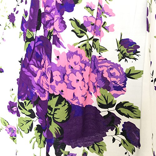 KP13 Girls Dress Purple Flower Party Size 7-8