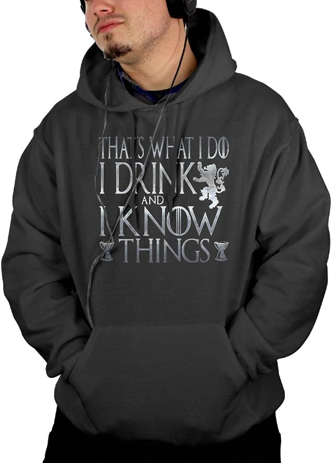 I Drink And I Know Things Navy Hoodie Unique Personality Fashion