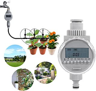 Eurobuy Watering Timer,Solar Power Automatic Irrigation Watering Timer Programmable LCD Display Hose Timers Irrigation System for Home Garden Greenhouse Plant Grass((Batteries not Included))