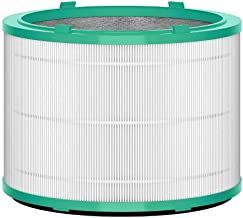 Dyson Air Purifier Replacement (HP01, HP02, DP01) 360° Glass HEPA Filter, Silver/Green