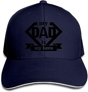 Father's Day Gift My Dad Is My Hero Trucker Unisex Adjustable Sandwich Cap