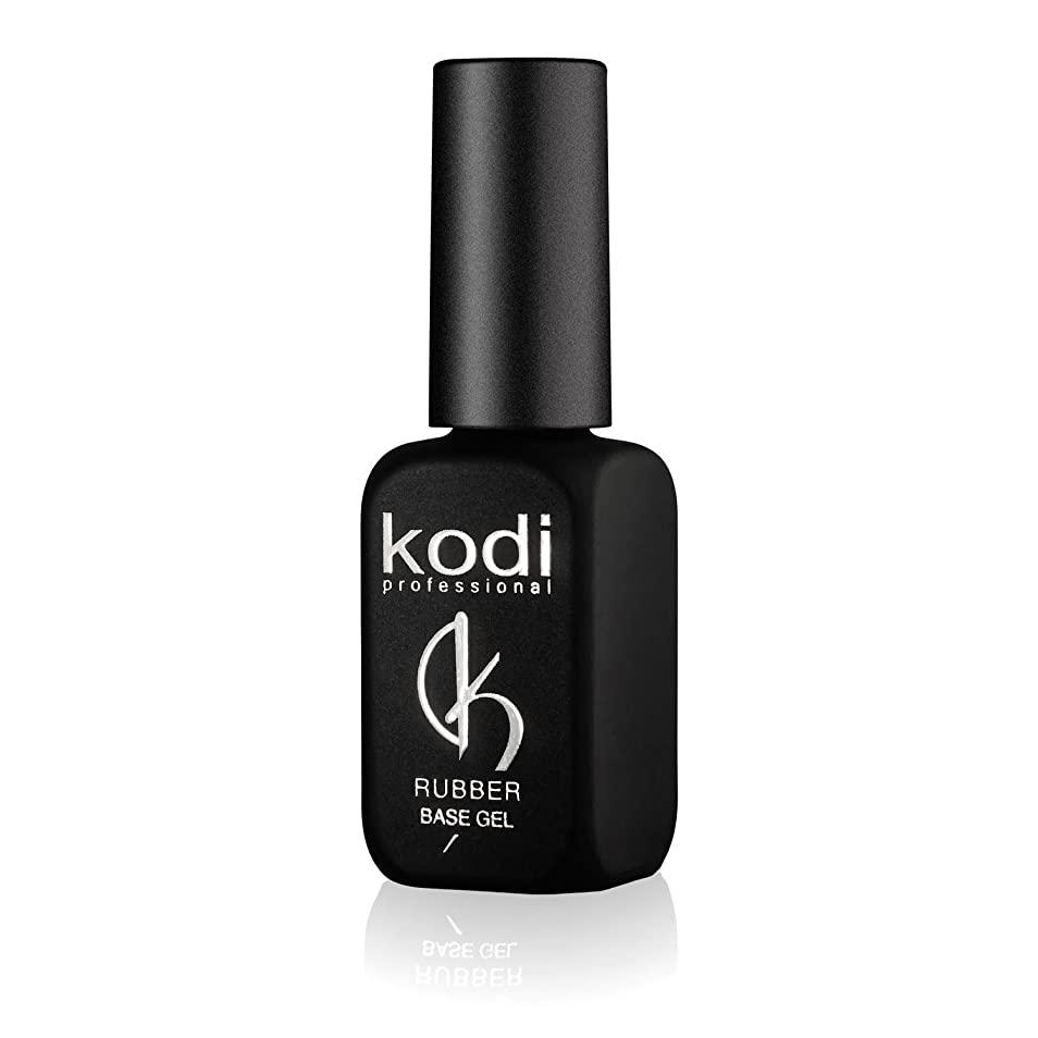 リスキーな足音それるProfessional Rubber Base Gel By Kodi | 12ml 0.42 oz | Soak Off, Polish Fingernails Coat Gel | For Long Lasting Nails Layer | Easy To Use, Non-Toxic & Scentless | Cure Under LED Or UV Lamp