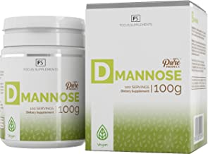 D Mannose Powder 100g 100 Pure Supports Bladder Kidney Health Urinary Issue UTI Cystitis Relief and Prevention Enhanced Cranberry Detox Treatment - Vegan Non-GMO Gluten Free