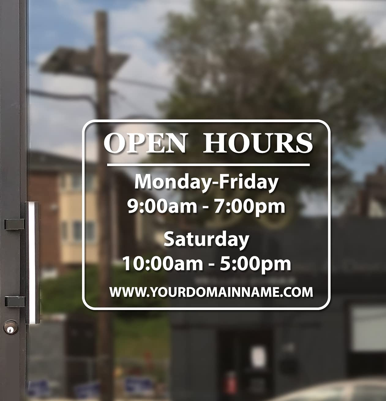 Business Hours Sign for All stores are sold Ranking TOP6 Window - Install Free Squeegee Ma Easy