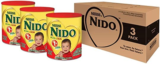 Nido Kinder 1+ Powdered Milk Beverage, 1.76 Pound, 3 Count