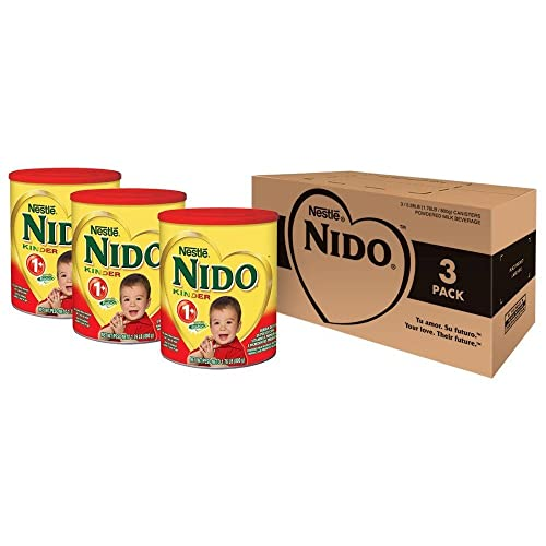 Nido Kinder 1+ Powdered Milk Beverage, 1.76 Pound, 3 Count