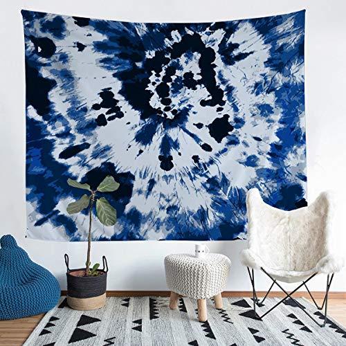 Loussiesd - Manta para colgar en la pared, diseño hippie, para mujer, color azul oscuro, para niños, adultos, bohemio, gitano, manta de cama, ultra suave, decoración de habitación mediana, 51 x 59