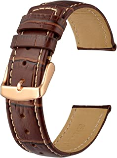 Anbeer Casual Alligator Grain Leather Watch Band 18mm 20mm 22mm, Sports Style Bracelet Wristband