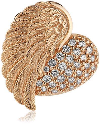 Engelsrufer Damen-Anhänger Herz Flügel 925 Silber teilvergoldet Zirkonia rosa - ERP-HEARTWING-ZI-R