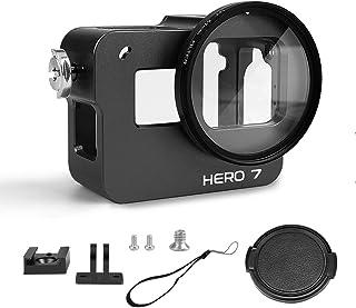 Luxebell Aluminium Alloy Skeleton Thick Solid Protective Case Shell Frame Housing for GoPro Hero 7 6 5 Vlogging (Hero 7 Bl...