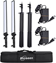 Portable Dimmable LED Handheld Lights Kit with Tripod Stand for Photography Photo Studio Continuous Output Lamps Lighting Kit Camera Shooting,YouTube Video -36W-2 Pack-Lightweight