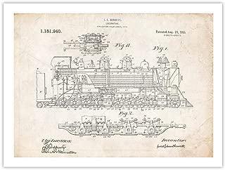 1915 Steam Locomotive Invention 18x24 Patent Poster