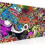 Bilder Graffiti Street Art Wandbild 200 x 80 cm Vlies - Leinwand Bild XXL Format Wandbilder...