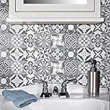 Pegatinas de azulejos de mosaico, 20 piezas autoadhesivas de mosaico, azulejos de pared, impermeable, papel para cuarto de baño y cocina (20 x 20 cm)