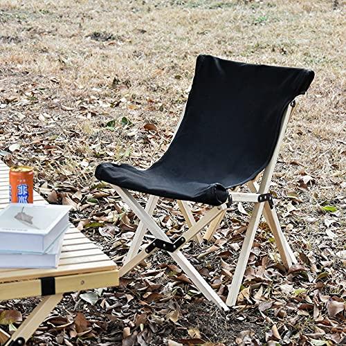 WFSH Mesas de Acampada Mesas y sillas Plegables Plegables portátiles para Exteriores, para Fiesta de Picnic al Aire Libre, Playa, Mesa de Madera Plegable Mesa de Camping (Color : Black 53x47x64cm)