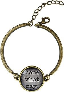 Adjustable Vintage Bronze Bracelets Moulin Rouge Idea Hostess Favors Romantic Key Ring Come What May Copper Bangle Custom Glass Cabochon Charm Brace Lace