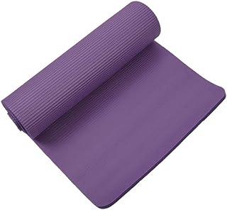 Yoga Mat Folding Non Slip Mat| Yoga Mat 15mm Thick Exercise Fitness Physio Pilates Workout Mat Non Slip Colour:Purple Yoga...