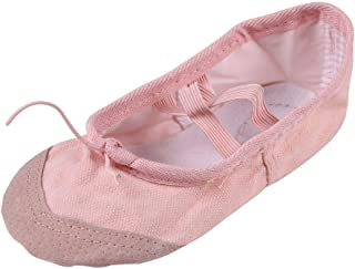Weixinbuy Girls Ballet Slippers Dance Gymnastics Shoes Split Sole Classic Dance Shoes for Girls and Women