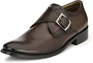HITZ Brown Formal Leather Shoes for Men