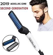 ZOSOE Quick Hair Styler for Men Electric Beard Straightener Beard Care Comb Multifunctional Curly Hair Straightening Comb Curler For DIY Flexible Modeling - Battery Operated(Black & White Colour)