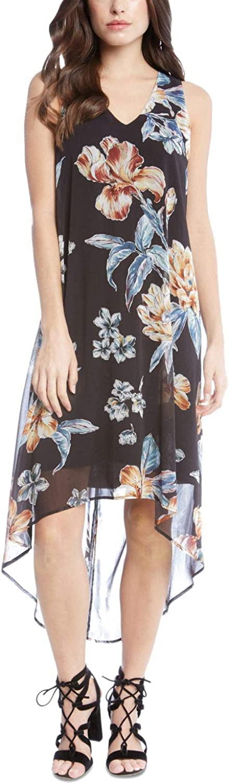 Karen Kane Womens HighLow Hem Dress