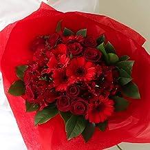 花 ギフト【母の月】プレゼント 高級 花束 生花 お祝い 誕生日 フラワーデザイナーおまかせ 5月11日以降にお届け(赤色系LLサイズ)