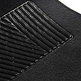 FH Group F14403BLACK Black Carpet Floor Mat with Heel Pad (Deluxe)