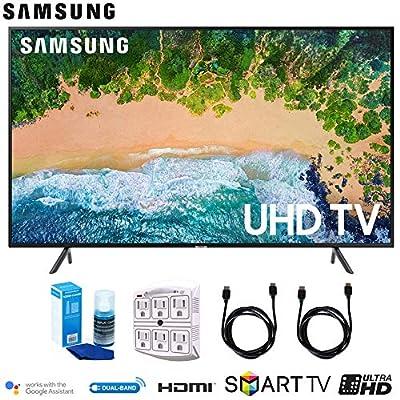 Samsung NU7100 Smart 4K UHD TV (2018) w/Surge Protector + Cleaning Kit