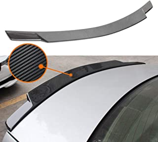 Huichi W204 Spoiler, Carbon Fiber C74 Style Rear Trunk Deck Lip Boot Spoiler Wing for Mercedes-Benz C Class W204 4-Door Saloon C250 C300 2007-2014